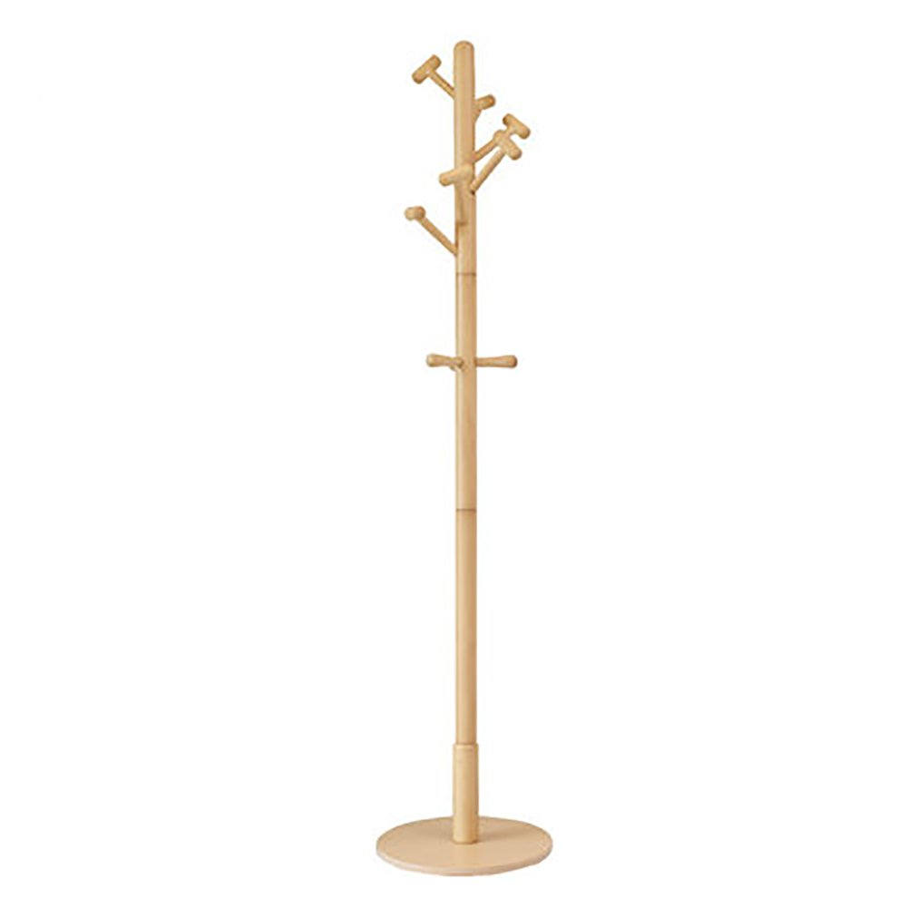 Beech burlywood Wood Clothes Tree Simple Hatstand Coatrack Hat Rack 180cm ( color   White )