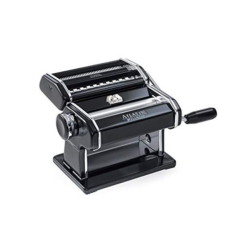 Marcato Atlas Pasta Machine with Motor Set, Black, Made in Italy