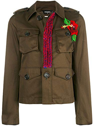 Dsquared2 Cotone S72am0640s41794728 Giacca Verde Donna dBeCox