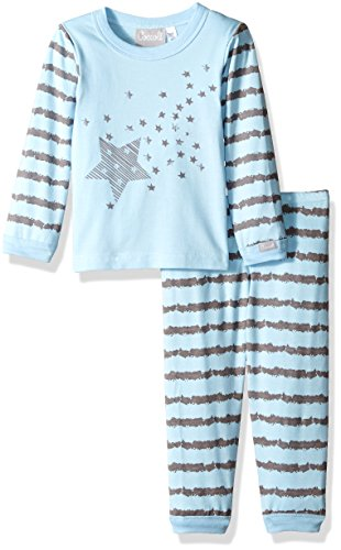 ail Print Jersey Knit Cotton/Modal 2 Piece Set, Slate/Blue, 9 Months ()