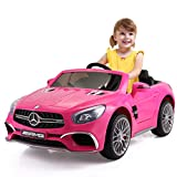 JAXPETY Mercedes Benz 12V Electric Kids Ride On Car Licensed MP3 RC Remote Control (Pink)