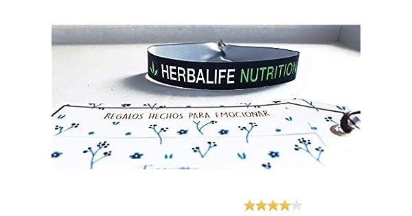 Pulseras de tela con mensaje: HERBALIFE NUTRITION | Regalo original: Amazon.es: Hogar