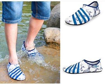 Sneldrogend Water Sportschoenen Lichtgewicht Zachte Blote Voeten Duik Zwemhuid Schoenen Anti-slip Trainer Sneakers Witte Blauwe Vlinder