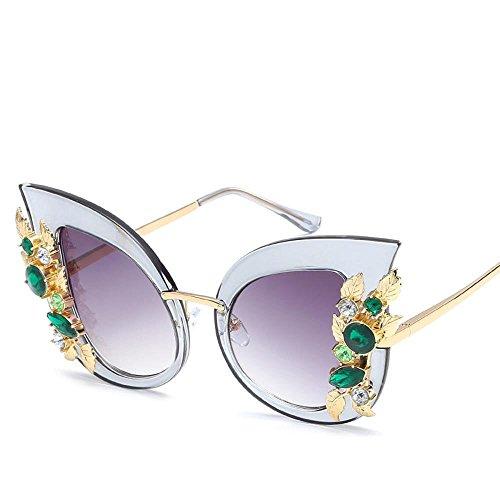 tendencia grandes hombres personalidad marco Unidos y FE con nueva de D de gafas un gato marco moda diamante de Gafas de ojo sol Aoligei los gafas Estados Europa sol sol de P1CwTq