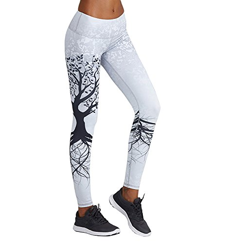 workout Products : Printed Women's Full-Length Yoga Pants Workout Leggings Thin Capris
