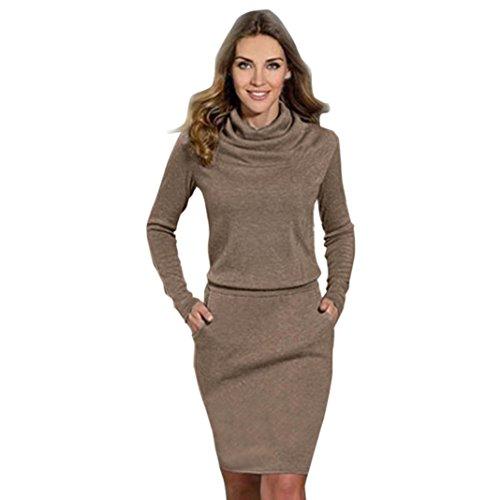 SunWard(TM) Womens Fashion Package Hip Slim Mini Pencil Business Dress (Small, Coffee)