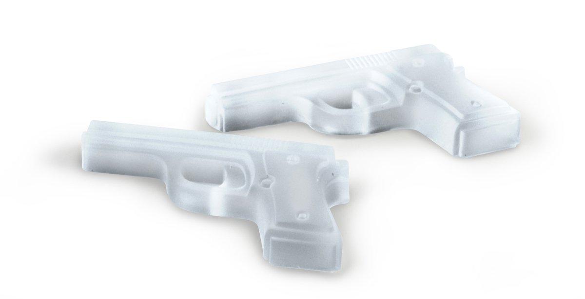 Fred Freeze1 Cubitera con forma de pistolas color gris