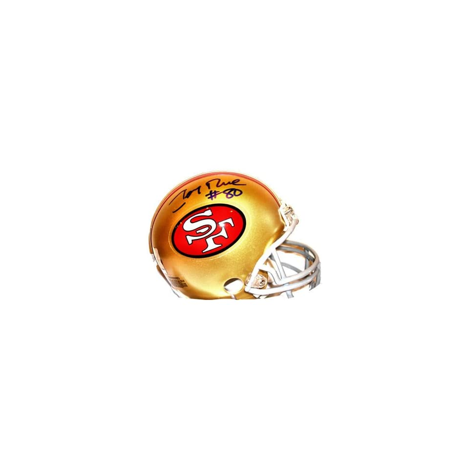 Jerry Rice Autographed San Fransisco 49ers NFL Mini Helmet