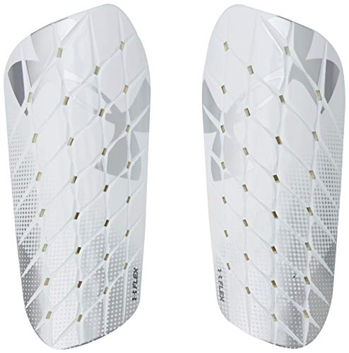 Under Armour Men's Armour Flex Shin Guard, White//Silver, Small