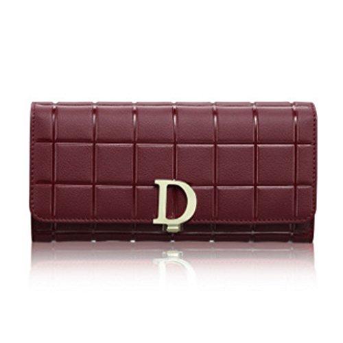 borsa di della Sacchetto di cuoio Vino svago lunga multi card raccoglitore signora del della Borsa Rosso Semplicità borsa di borsa dell'inarcamento della Colore capacità Sezione CLOTHES Viola del di elevata wd5qWnXI5c