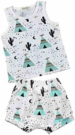 Yajiemen Unisex Baby Christmas Outfits Jumpsuit Bodysuit 4Pc Romper+Pants+Hat+Headband