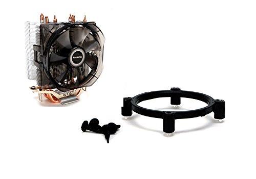 Zalman CPU Cooler with Direct Tough Heatpipe Base and Shark Fin Fan Cooling, Silver, (CNPS8X Optima) by Zalman (Image #9)