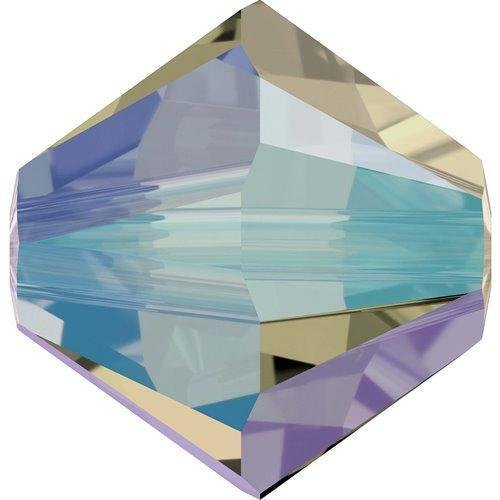 - 5328 Swarovski Crystal Bicone Beads Black Diamond Shimmer 2X | 4mm - Pack of 50 | Small & Wholesale Packs