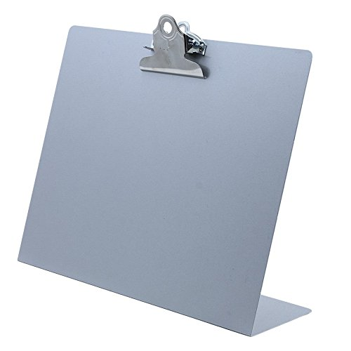 - Saunders Landscape Free Standing Clipboard - Silver - Letter Size (22526)