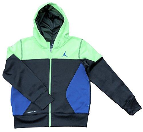 Nike Boys Air Jordan Therma Fit Full Zip Hooded Jacket Color Block, Size Small