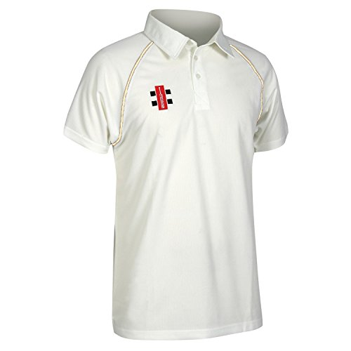 (Gray-Nicolls Mens Matrix Short Sleeve Cricket Shirt (M) (Ivory))
