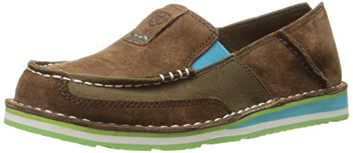 Ariat Women's Cruiser Slip-on Shoe, Palm Brown, 7 B - Platform Side West Leather