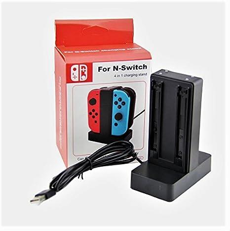 Nintendo Switch-Joy Con 4 en 1 Soporte De Carga Con LED: Amazon.es: Videojuegos