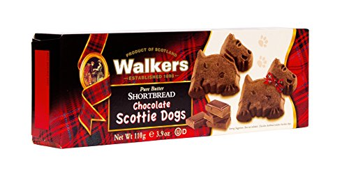 Walkers Shortbread Chocolate Scottie Dogs, Chocolate Pure Butter Shortbread Cookies, 3.9 Ounce Box