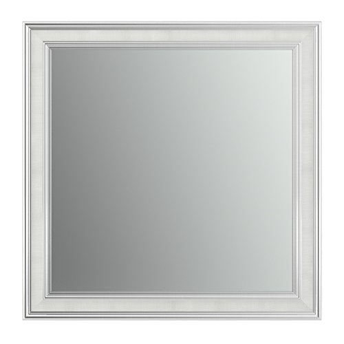 Chrome Classic Wall Mount - Delta Wall Mount 33 in. x 33 in. Large (L2) Square Framed Flush Mounting Bathroom Mirror in Classic Chrome with Standard Glass