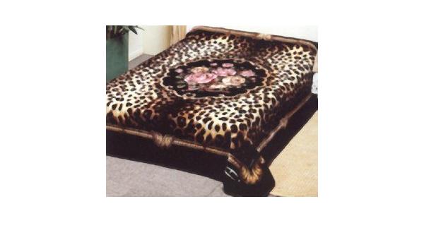 79x96 Luxury MEDIUM Weight Queen Blanket Deer in Nature Animal Mountains ☀️NEW