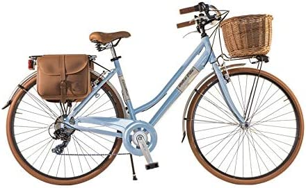 Canellini Via Veneto by Bicicleta Bici Citybike CTB Mujer Vintage Dolce Vita Aluminio Azul Blau (50): Amazon.es: Deportes y aire libre