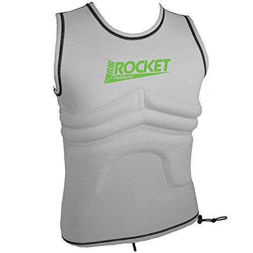 Vest Rash White (The Rib Rocket Lycra/Neoprene Tropic White Vest by PaddleAir (X-Large))