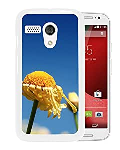 New Beautiful Custom Designed Cover Case For Motorola Moto G With Yellow Flower (2) Phone Case