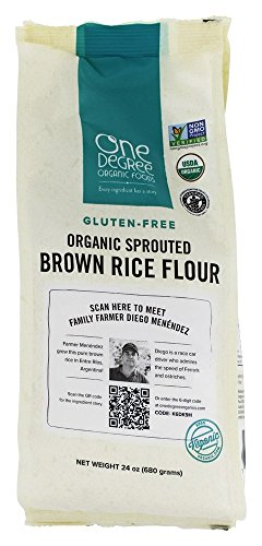 (One Degree Organic Foods Sprouted Brown Rice Flour Organic, 24 Ounce)