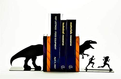 T-Rex Attack Bookends