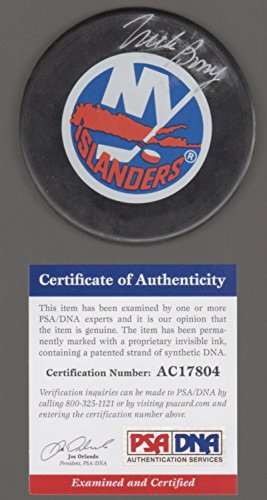 Mike Bossy Autographed Puck - PSA/DNA Certified - Autographed NHL (Mike Bossy Memorabilia)