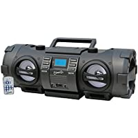 SuperSonic Wireless Bluetooth Boom Box, Black