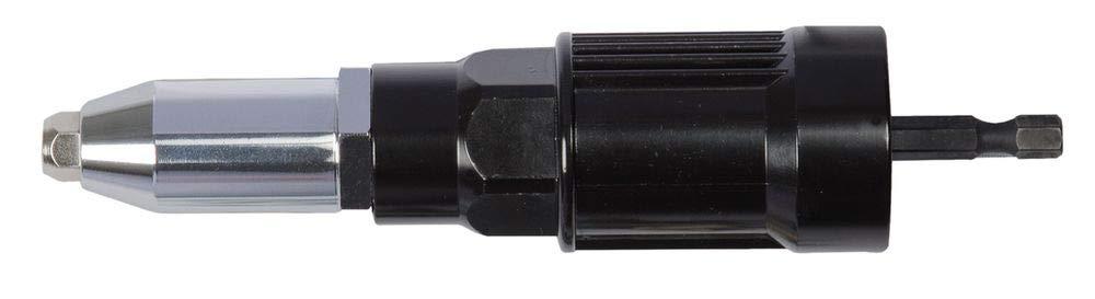 Projahn 398063 Profi-Blindnietvorsatz-Adapter , für Bohrmaschinen und Akkuschrauber , ermüdungsfreies Setzen von Blindnieten , Geeignet für alle Blindniet-Materialien bis Ø 2,4 - 5,0 mm