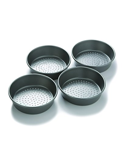 Chicago Metallic Professional Perforated Mini-Deep Dish Pizza Pan Set, 7-Inch, 4-Count 26704