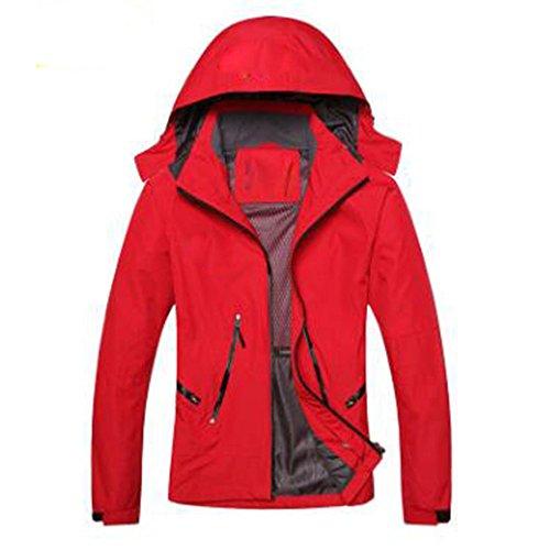 All'aperto Antivento Impermeabile Lai Single Caldo Layer Lady Alpinismo Wu Rosso Giacche R0qHq