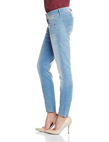 G Aged Lt Skinny 424 Blu Donna Waist Jeans Mid Raw blue Lynn star R6ArqR