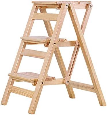 GOG Fácil y cómodo taburete plegable Paso, Presidente de la escalera completa Asientos de madera plegable para adultos fecal en casa Cocina Escalada simple Muebles escalera portátil, taburete con la: Amazon.es: Bricolaje
