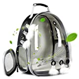halinfer Transparent Pet Cat Carrier Backpack, Space Capsule Clear Bubble Cat Hiking Traveling Backpack for Small Dog Puppy