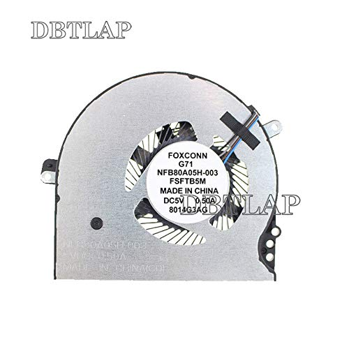 DBTLAP CPU Cooling Fan HP Pavilion 15-cc 15-cc708tx 15-CC715TX 15-CC710TX TPN-Q191 927918-001 Laptop Cooler Fan