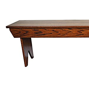Hope Woodworking Wooden Farmer Bench, 3 Feet, Solid Oak Wood, Contact Us With You Stain or Paint Choice, Custom Available
