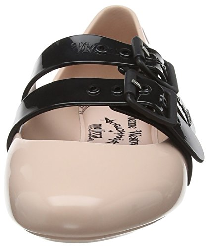 Vivienne Westwood Doll Donna Ballerine VW Blush Pink Chiusa 51647 Punta Contrast amp; Melissa HZrxdHw