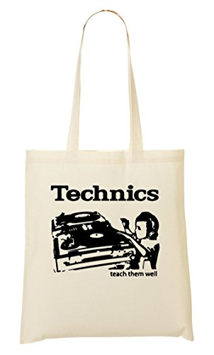 Technics - Teach Them Well Cool Boy Dj Bolso De Mano Bolsa De La Compra