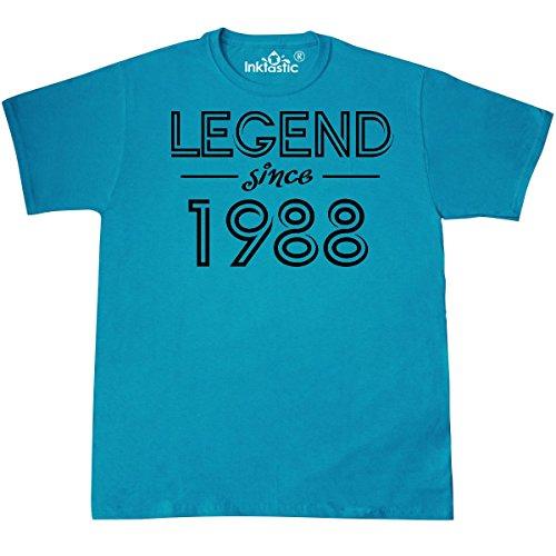 inktastic - Legend Since 1988- Birthday T-Shirt Large Pacific Blue 317de ()