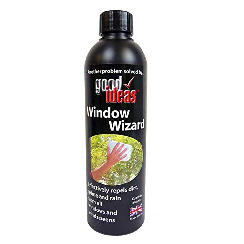 Easylife Good Ideas Window Wizard - Window Cleaning Solution with Demister for Bathroom Windows, Window Dirt Cleaner, Bird dropping, Insect, Tree Sap, Dust, Grim and Grease Remover - 250ml Bottle