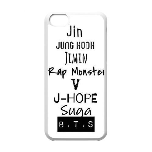 Bts Army Logo D1D86Y2JX coque iPhone 5c case coque white FG37LP