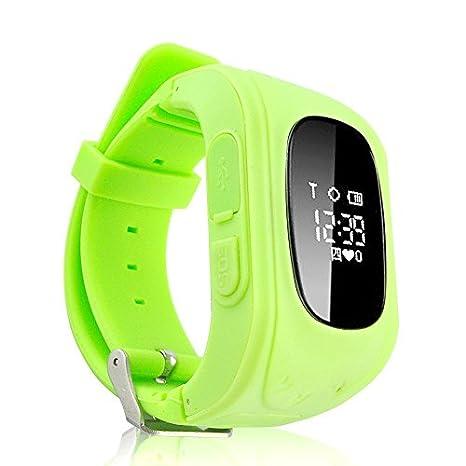 Smart GPS reloj para niños teléfono Q50, anti-lost SOS niños GPS muñeca reloj teléfono gsm desbloqueado cuatribanda