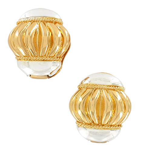- Twotone Magnetic Clip On Earrings For Women Set