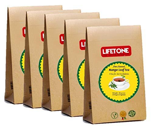 lifetone the tea for better life, Mango Leaf Tea | 100% Natural Herbal Supplement | 40 Teabags | Delicious Green Leaf Tea | Natural Detox Tea | Diabetic Tea (Best Green Tea For Weight Loss Uk)