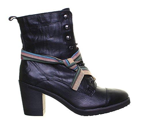 Felmini 9783 - Botas de Piel para mujer Black D12