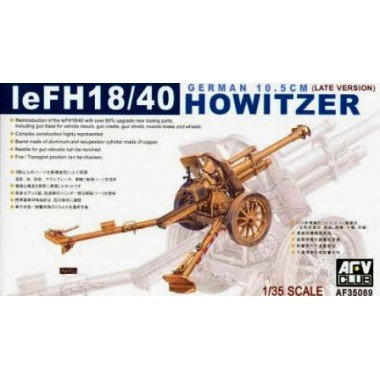 (eFH18/40 German 10.5cm Late Version Howitzer Gun 1-35 AFV Club)